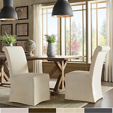 SIGNAL HILLS Potomac Slipcovered Rolled Back Parsons Chairs (Set of 2)