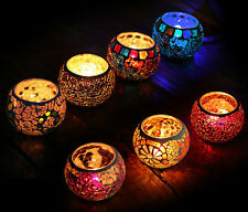 Chinese Mosaic Glass Candle Holders Tealight Votive Holder Wedding Home Decor