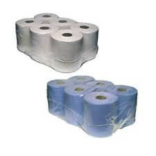 Centrefeed Rolls 2ply White, Blue