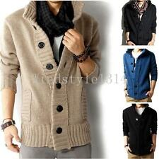 Hot Men's knit sweater thick sweater Slim line jacket coat New Fashion Casual Sz