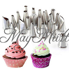 Icing Piping Nozzles Pastry Tips Cup Cake Cookie Craft Decorating Tools Set CA