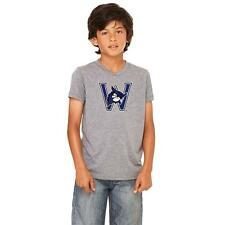 Westfield State University Owls Youth Short Sleeve T-Shirt Distressed Logo