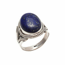 LAPIS LAZULI SOLID 925 STERLING SILVER NEW FINE RING CUSTOM SIZE 5,6,7,8,9,10