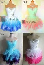 Hot Stock Sexy Mini/Short Cocktail Prom Party Gowns Ball Evening Dresses Sz 6-20
