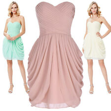 Short Formal Chiffon Wedding Party Prom Dress Bridesmaid Evening Cocktail Dress