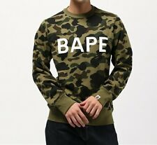 A BATHING APE 1ST CAMO BAPE CREWNECK Bape Men Cotton Sweatshirt New From Japan