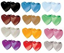 DOUBLE HEART SHAPE HELIUM BALLOON WEIGHTS BIRTHDAYS CHRISTENING PARTY CLUSTERS