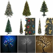 Christmas Tree Fibre Optic Blossom Bonsai LED Pre-Lit Pop-Up Decorated Pine Cone