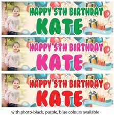 2 x PERSONALISED BIRTHDAY BANNER BALLOON 1st 18th 21st 30th 40th-any name age
