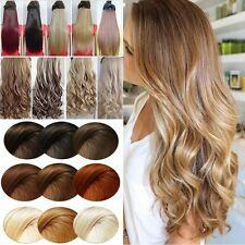 Long Premium One Piece 5Clips Clip In Full Head Hair Extension Brown Blonde fkz