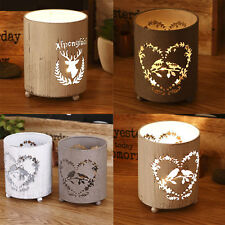 Handcrafted Metal Cylinder Tea Candle Holder Hollow Wedding Candle Lantern