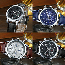 Multi-function Dual Time Display Analogue Quartz Watch Wristwatch With Guide TY