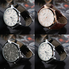 SINOBI 9546 Man Fashion Water Resistant Casual Quartz Watch Leather Strap TY