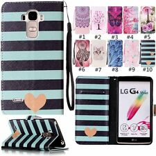 Fashion Flip Wallet Leather Card w/Strap KickStand Cover Cell Case For LG Phone