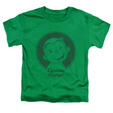 Curious George Classic Wink Little Boys Shirt Kelly Green (2T)