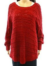 INC International Concepts Women's Cable Knit Sweater Red NWT $89.50