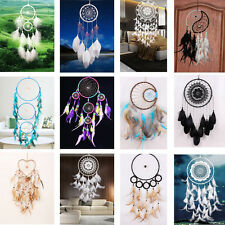 Handmade Craft Large Dream Catcher Feathers Wall Hanging Home Decor Ornament DIY
