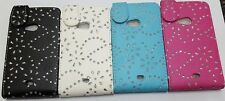Jewelled Diamond Crystal PU Leather Flip Case Cover For Nokia Mobile Phones