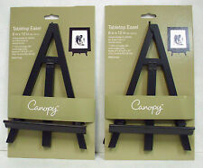 """Canopy Tabletop Easel 8"""" x 12"""", Black, Wood, Pack Of 2"""