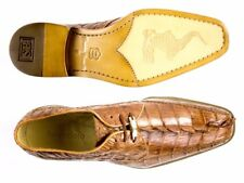 Belvedere Mens Shoes Colombo Genuine Crocodile Lace Up Elegant Camel 1494 New