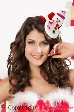 New Ladies Girls Snowman Doll Mini Top Hat Christmas Fancy Dress Party Accessory