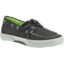 Sperry Top Sider Halyard Black And Grey Boat Shoes For Boys Choose Your Size New