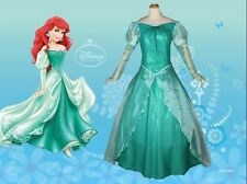 New Little Mermaid Princess Ariel Cosplay Deluxe Dress Party Costume Fashion