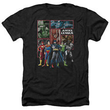Jla New Jla Panels Mens Heather Shirt Black