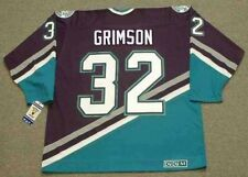 STU GRIMSON Anaheim Mighty Ducks 1998 CCM Throwback Away NHL Hockey Jersey