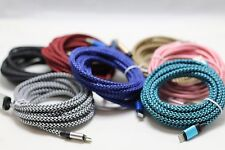 3x 10 FT Extra long braided USB Data Charging cable cord For Apple Iphone 7 Plus