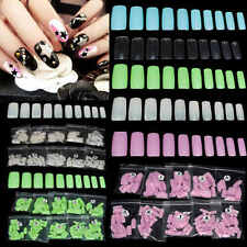 500Pcs False French Fake Half Acrylic Artificial Nail Art Tips 12 Colors