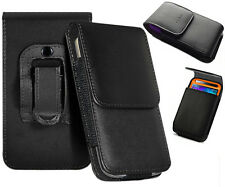 Universal PU Leather Top Clip Belt Holster Flip Case Cover Pouch Mobile Phone UK