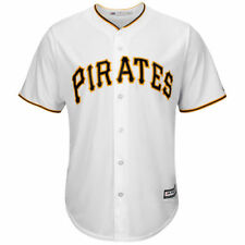 Pittsburgh Pirates Majestic Official Cool Base Jersey - White - MLB