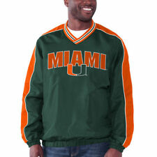 Miami Hurricanes Double Switch V-Neck Pullover Jacket - Green - NCAA