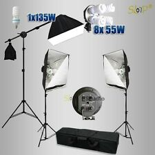 Photo Video Continuous Softbox Lighting Boom Arm Studio Soft Box Light Stand Kit