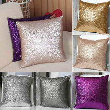 Hot Solid Glitter Sequins Throw Pillow Case Lounge Cafe Home Decor Cushion Cover