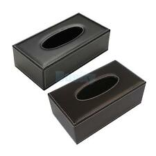 Leather Tissue Box Cover Napkin Toilet Paper Holder Car Tissue Box Holder