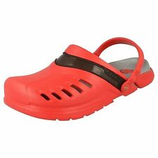 Ladies Crocs Red/Black Croslite Clog Sandals Style PREPAIR CLOG