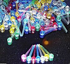 200 Pin Facet Globe 10color choice Ceramic Christmas Tree Light flame bulb star
