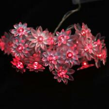 20-LED Double lotus String Fairy Light Wedding Party Christmas Decor 2 Color