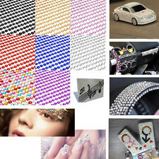 DIY PC Phone Car Decor Self Adhesive Crystal Rhinestone Bling Sheet Stickers 4mm