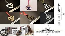 Stunning Limited Edition Georg Jensen Christmas decorations inc ribbon. Engraved