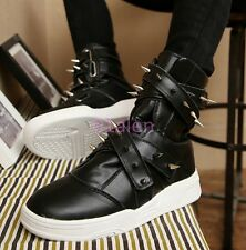 Mens High Top Ankle Boot Athletic Spike Rivet Rock Casual Sneaker Shoes Trainers