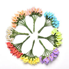 12X Foam Calla Artificial Flower Bouquet DIY Scrapbooking Decorative Wreath