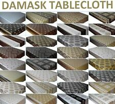 WIPE CLEAN TABLECLOTH PVC VINYL OILCLOTH DAMASK WIPEABLE TABLE COVER PROTECTOR