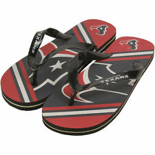 Houston Texans Youth Big Logo Flip Flops - Red/Navy Blue - NFL