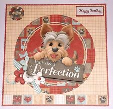 Handmade Greeting Card 3D Any Occasion With A Dog