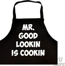 Funny Apron Mr. Good Lookin Is Cookin Chef Gift Grill Smoker BBQ