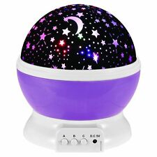 Rotating Projector Starry Night Light Star Moon Sky Lamp Romantic Projector LED