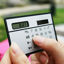 Chic Credit Card Size Solar Power Pocket Calculator Novelty Small Travel Compact